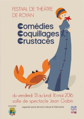 Affiche festival de Royan - Comédies coquillages et crustacés