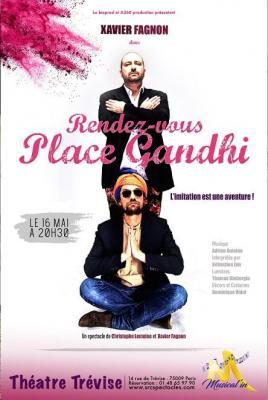 Affiche RDV place Gandhi théâtre Trevise