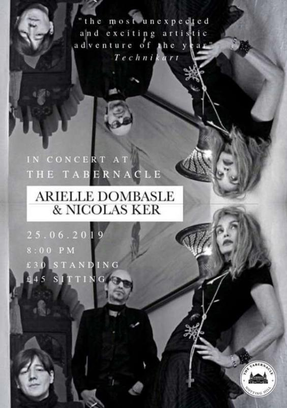 Arielle Dombasle and Nicolas Ker concert the tabernacle londres