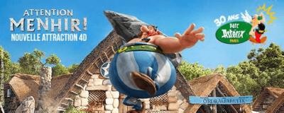 Attention Menhir ! - Attraction 4D Parc Astérix
