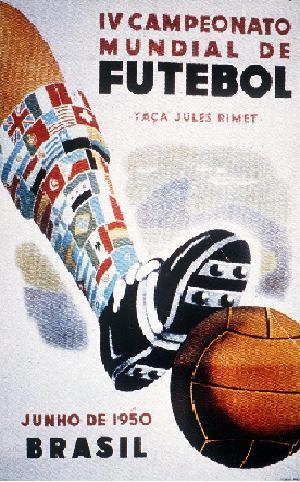 Coupe du Monde au Brésil : affiche de 1950