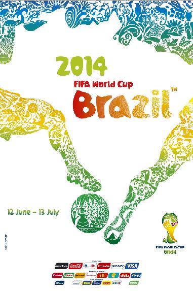 Coupe du monde au Brésil : affiche de 2014
