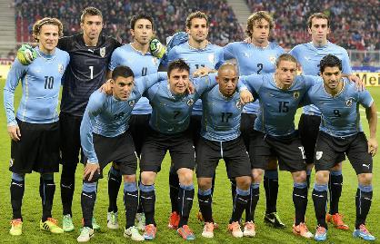 Coupe du Monde au Brésil l'équipe de l'Uruguay en 2014