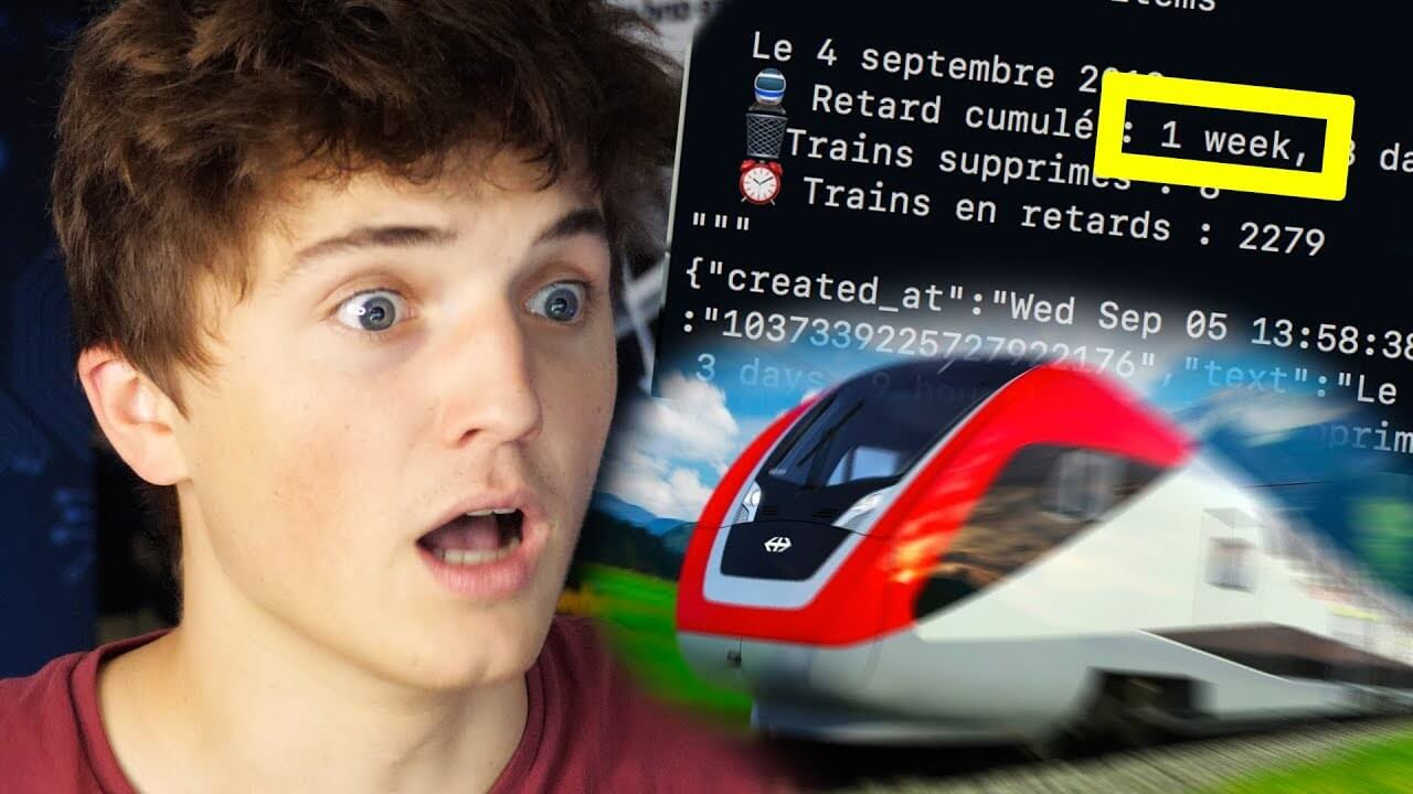 Cumul retards trains info Twitter Micode