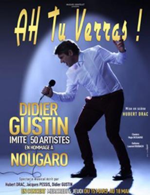 Didier Gustin - affiche spectacle Ah tu verras !