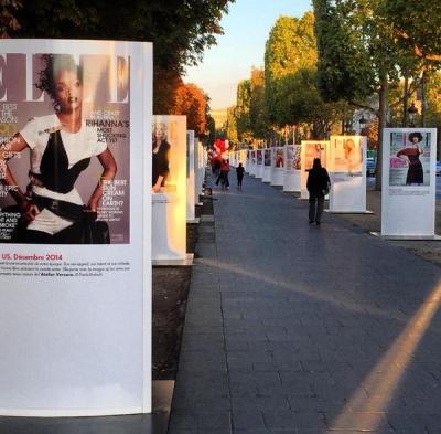 Exposition magazine Elle à Paris pour ses 70 ans