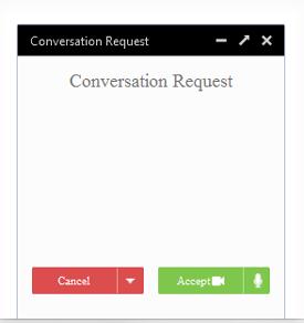 Fenêtre de conversation Firefox Hello
