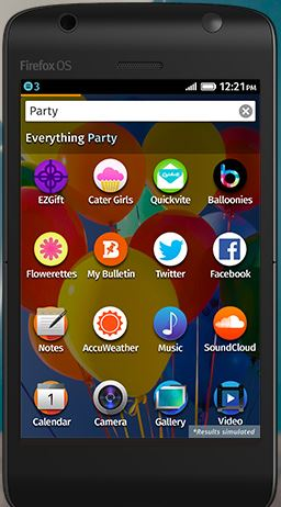 Smartphone sous Firefox OS