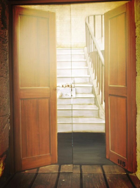 Fort Boyard 2014 : porte avec escalier trompe l'oeil