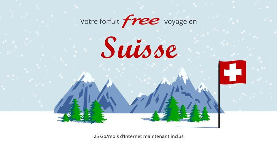 Free mobile data roaming Suisse
