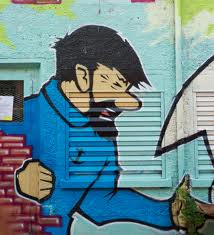 Le capitaine Haddock (peinture murale)