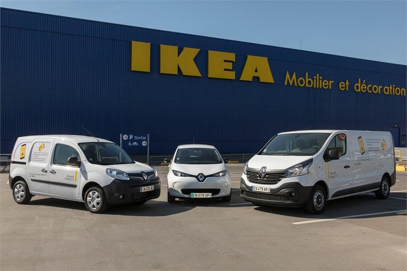 Ikea véhicules en location Renault