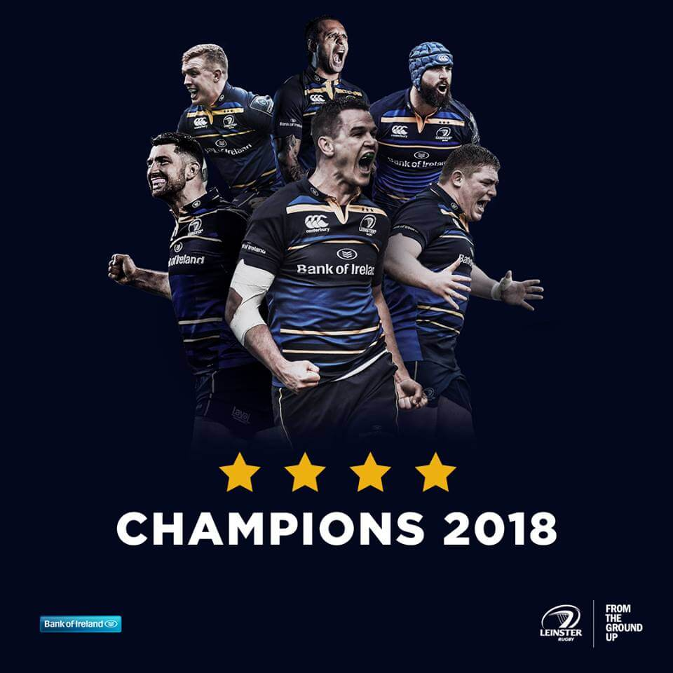 Leinster champion d'Europe de rugby 2018 face au Racing metro 92