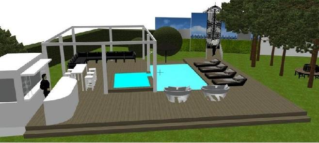 Maison Secret Story 8 : terrasse