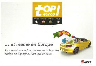 Notice APRR - AREA Topeurop (manuel d'utilisation)