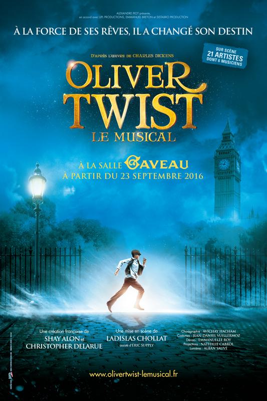 Affiche du spectacle Oliver Twist le musical
