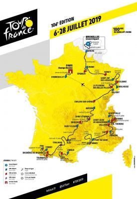 Parcours tour de france 2019