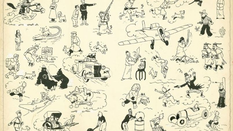 Planche Tintin Enchères