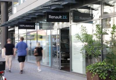 Renault concept store voitures électrique Berlin