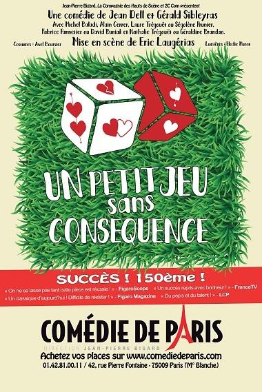 Un petit jeu sans consequence comédie de Paris