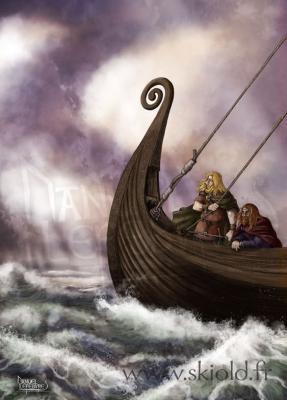 Drakkar Vikings - infographiste Skiold (Droits réservés)