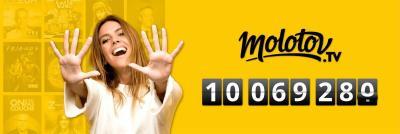 10 millions d'abonnés Molotov