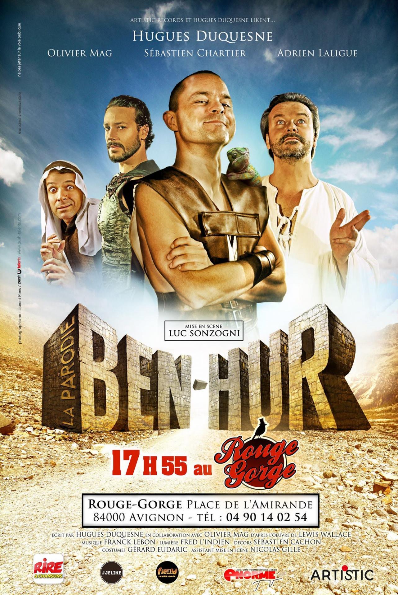 Affiche de la pièce de théâtre Ben Hur la parodie