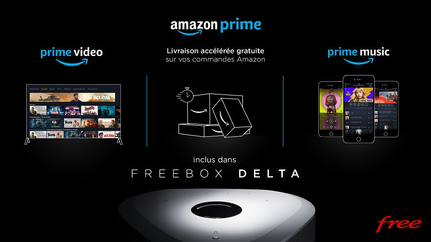 Amazon prime - Freebox Delta