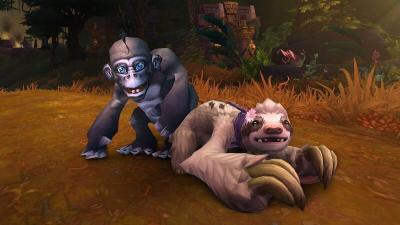 Bananas et Daisy  mascottes World of Warcraft - Médecins sans frontières