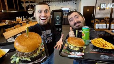 Black and White Burger - Saint Etienne