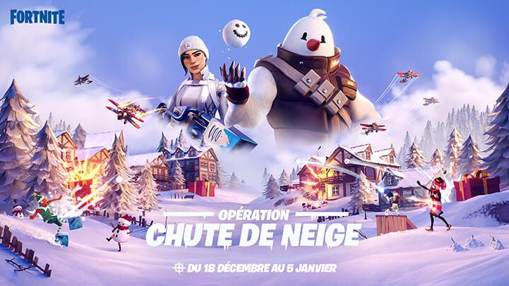 Chute de neige Fortnite