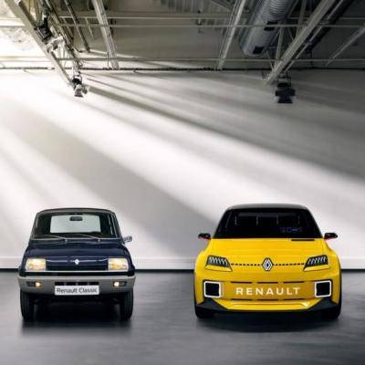 Comparaison design R5 et prototype R5 restylé