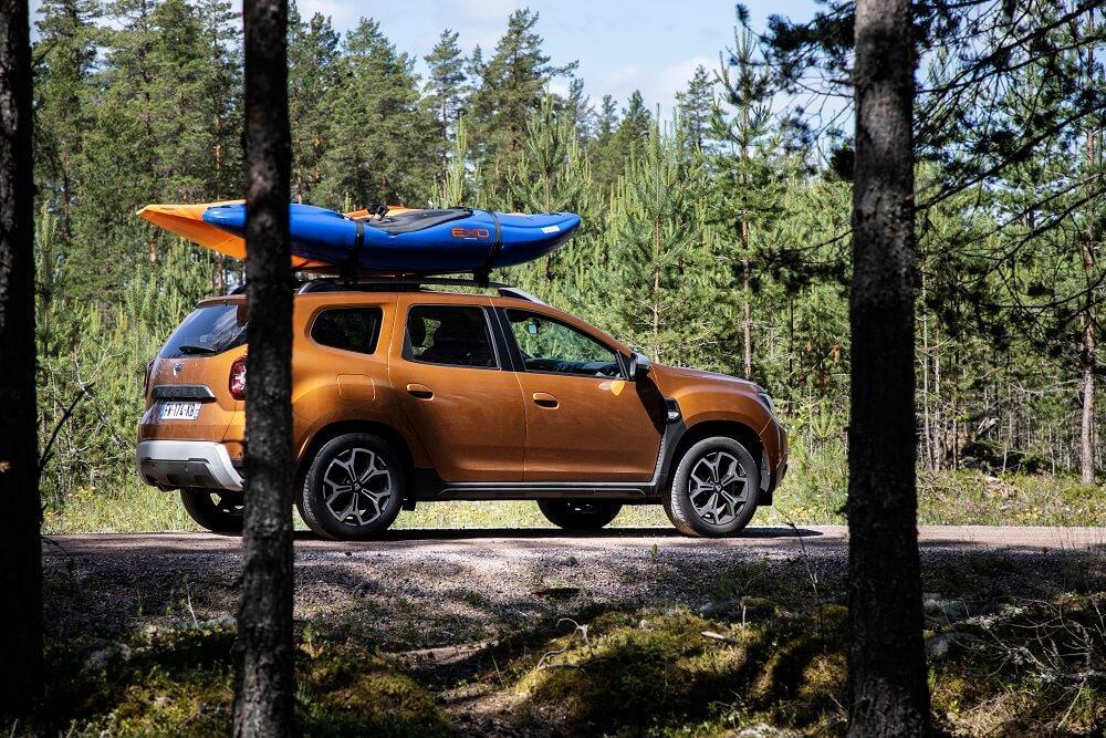 Dacia Duster mission Laponie en Kayak