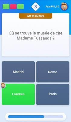 DuelQuiz - question culturelle musée de cire Mme Tussauds