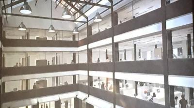 Etages et bureaux du futur bâtiment d'Europe 1 et du Journal du Dimanche (JDD) en 2018