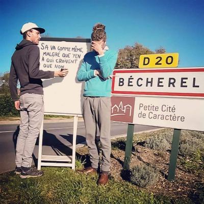Félix Renoult - tour de France des panneaux insolites à Bécherel