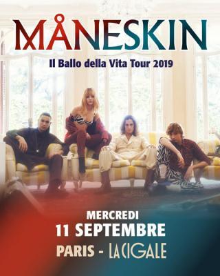 Maneskin concert La cigale