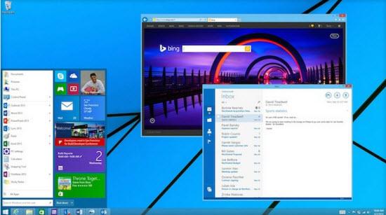 Menu Démarrer sous Windows 10