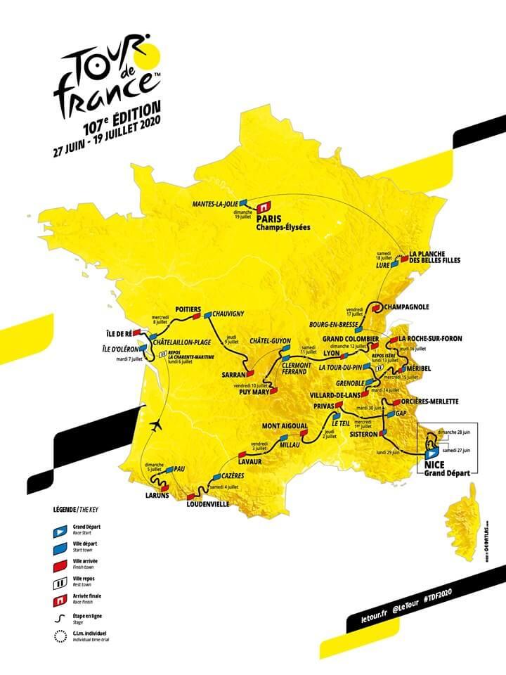 Parcours Tour de France 2020