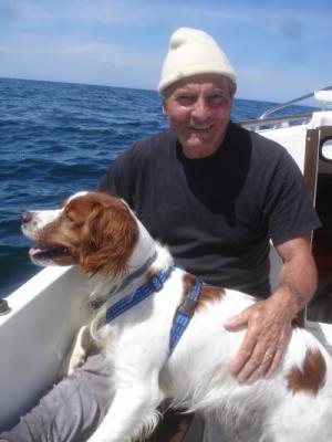 Paul Dupeyroux et son chien Stanley