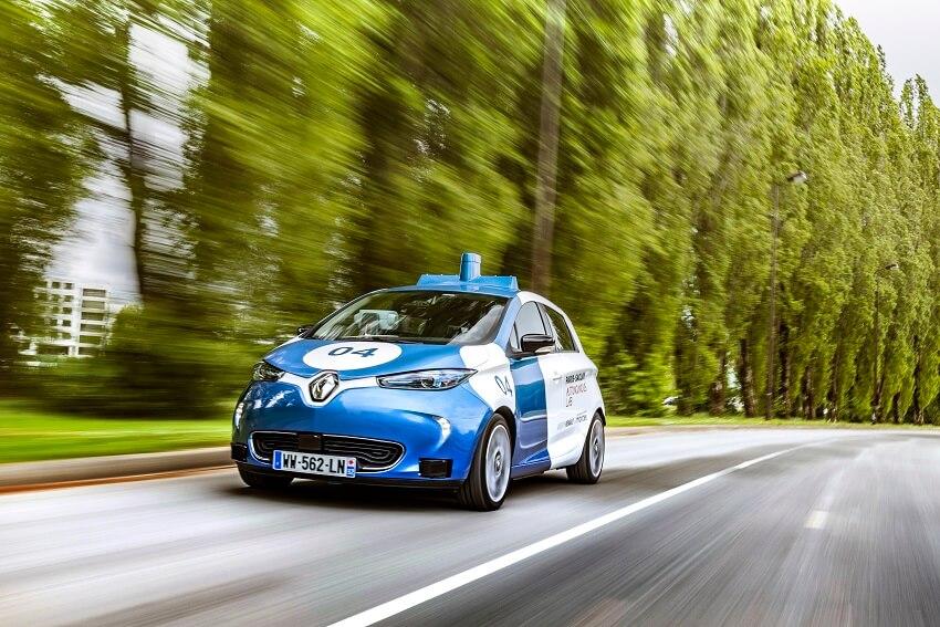 Renault Zoé cab autonome campus paris saclay