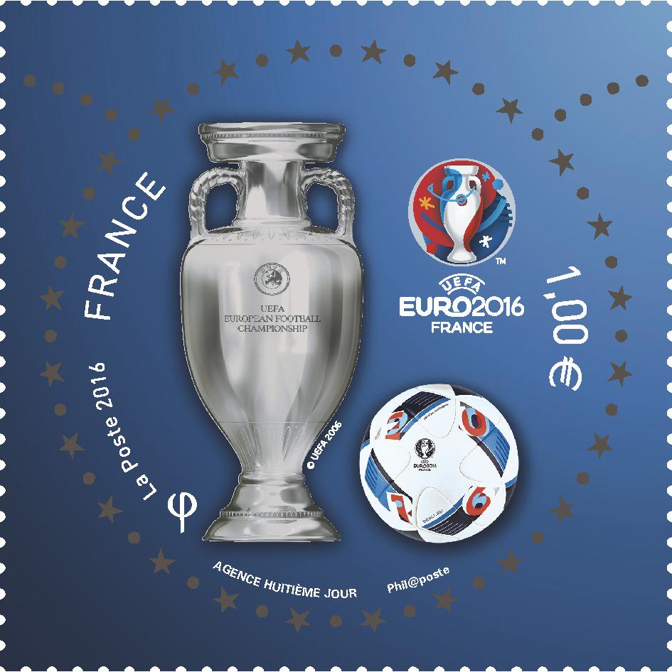 Timbre La Poste EURO 2016 de foot